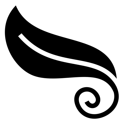 Curled leaf icon | Game-icons.net Trees