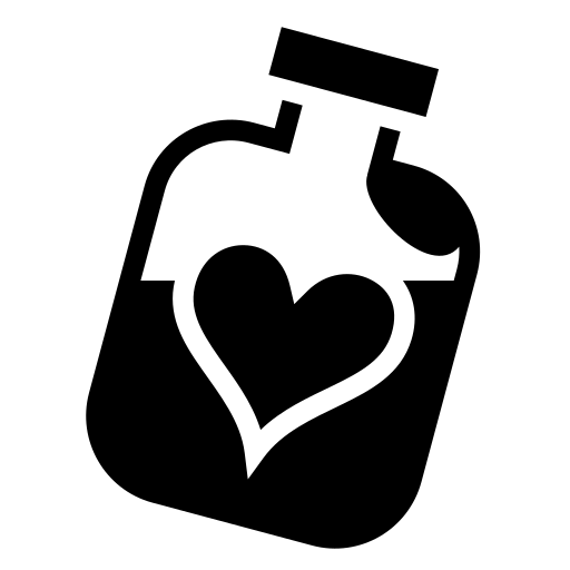 Heart Bottle Icon Game Icons Net