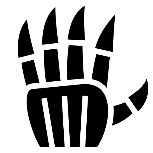 Metal Hand Icon Game Icons Net