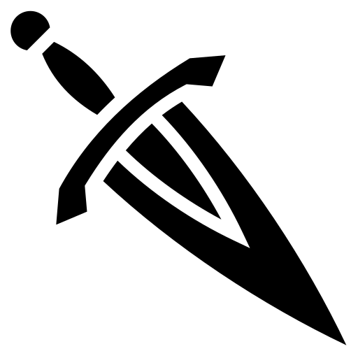 Plain dagger icon   Game-icons.net