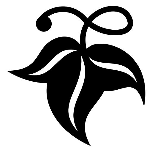 Vine leaf icon | Game-icons.net