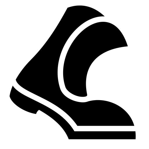 Walking >> Walking boot icon   Game-icons.net
