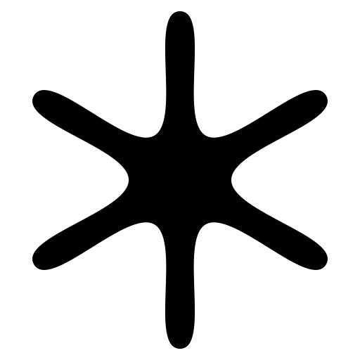 Flake icon | Game-icons.net