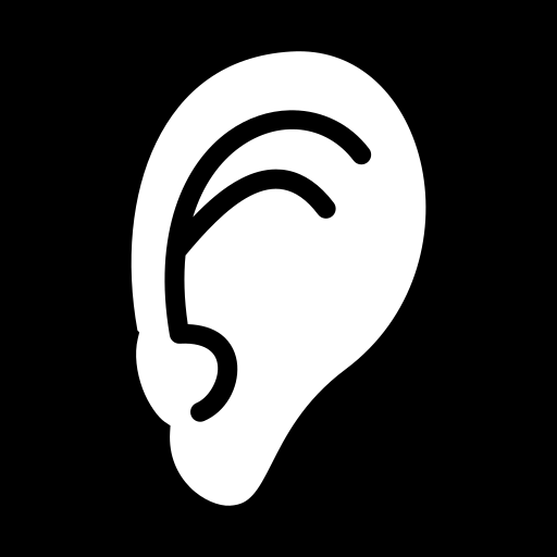 Human ear icon | Game-icons.net: game-icons.net/delapouite/originals/human-ear.html