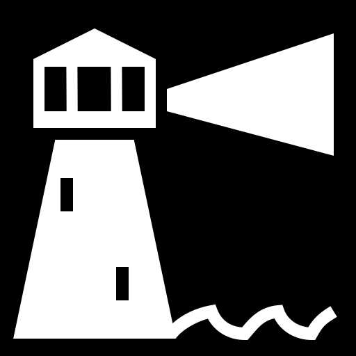 Lighthouse icon | Game-icons.net
