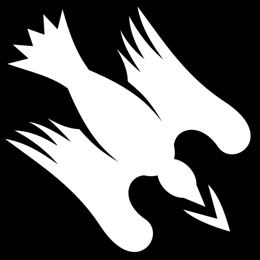 Crow dive icon | Game-icons.net: game-icons.net/lorc/originals/crow-dive.html