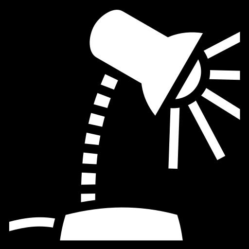Desk Icon Desk lamp icon