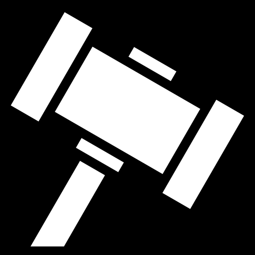 Gavel icon | Game-icons.net