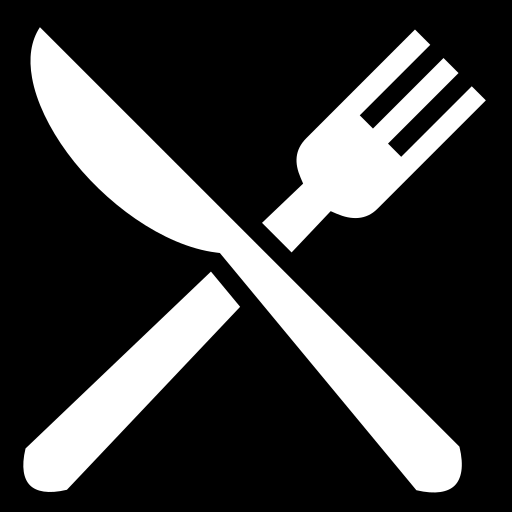 Knife and fork icon | Game-icons.net