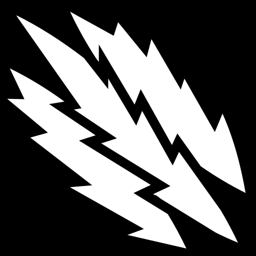 Lightning slashes icon | Game-icons.net: game-icons.net/lorc/originals/lightning-slashes.html