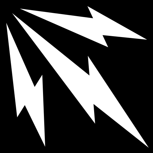 Lightning trio icon | Game-icons.net