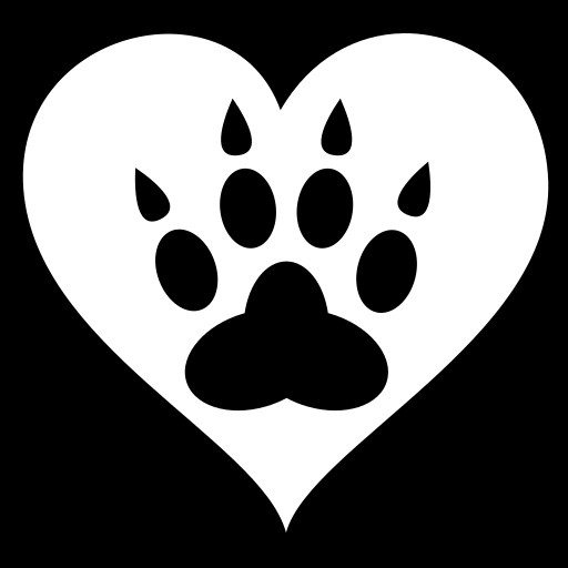 Paw heart icon | Game-icons.net