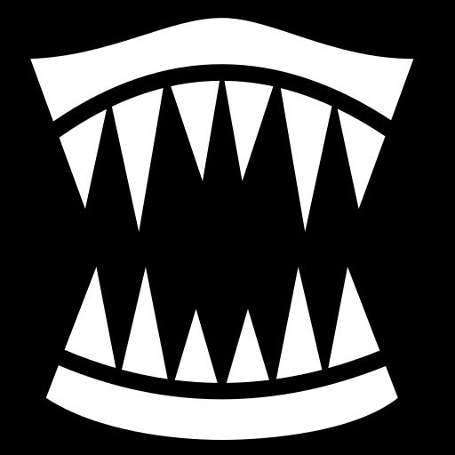 Sharp lips icon | Game-icons.net: game-icons.net/lorc/originals/sharp-lips.html
