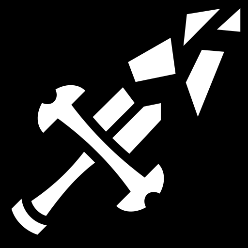 About Icon >> Shattered sword icon | Game-icons.net
