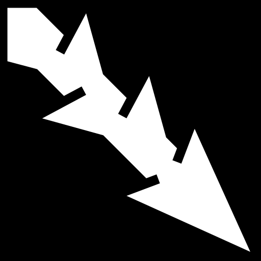 Spine arrow icon | Game-icons.net: game-icons.net/lorc/originals/spine-arrow.html