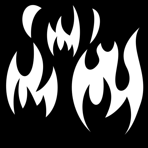 SVG (W/B) PNG (W/B): game-icons.net/lorc/originals/wildfires.html