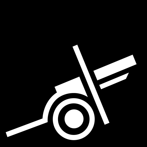 Field gun icon | Game-icons.net