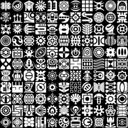 Abstract icons montage