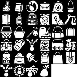Bag icons montage