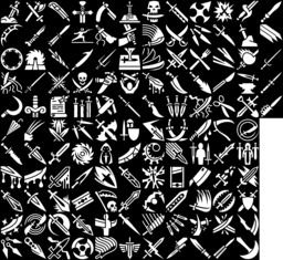 Blade, Sword & Knife icons montage