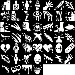 Blood & Wound icons montage