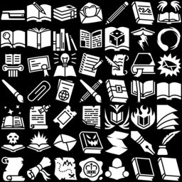 Book icons montage