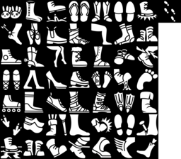 Boot & Shoe icons montage