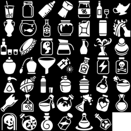 Bottle icons montage