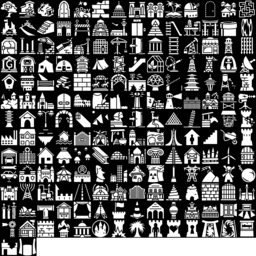 Building & Place icons montage