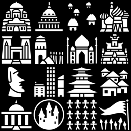 Civilization icons montage