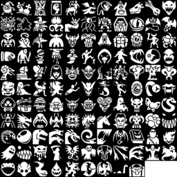 Creature & Monster icons montage