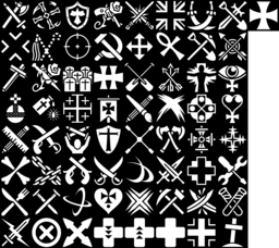 Cross icons montage