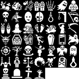 Death icons montage