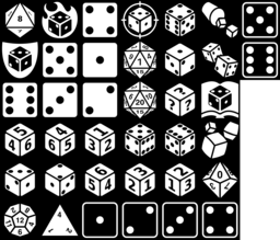 Dice icons montage