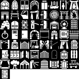 Door & Gate icons montage