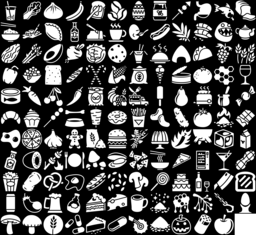 Food icons montage