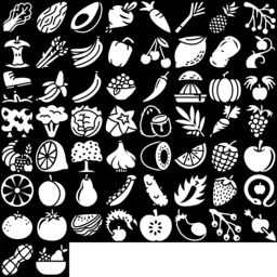 Fruit & Vegetable icons montage