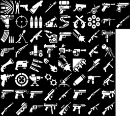 Gun & Firearm icons montage