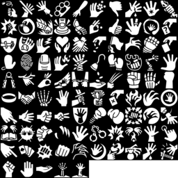 Hand icons montage