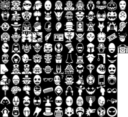 Head & Face icons montage