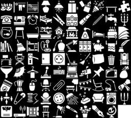 Household icons montage