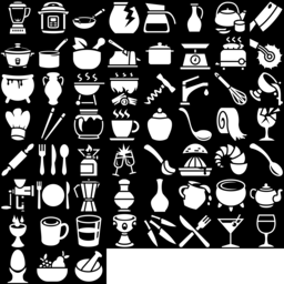 Kitchenware icons montage