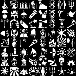 Light icons montage