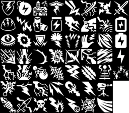 Lightning icons montage