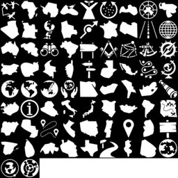Map & Country icons montage