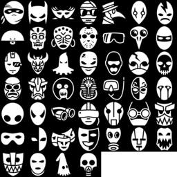 Mask icons montage
