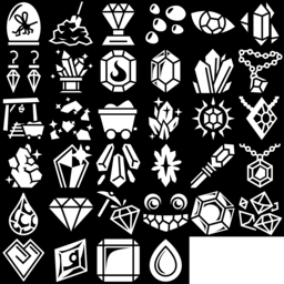 Mineral icons montage