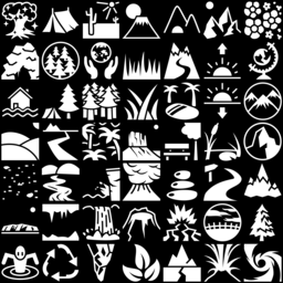 Nature icons montage