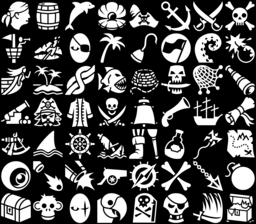 Pirate icons montage