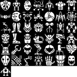 Robot icons montage